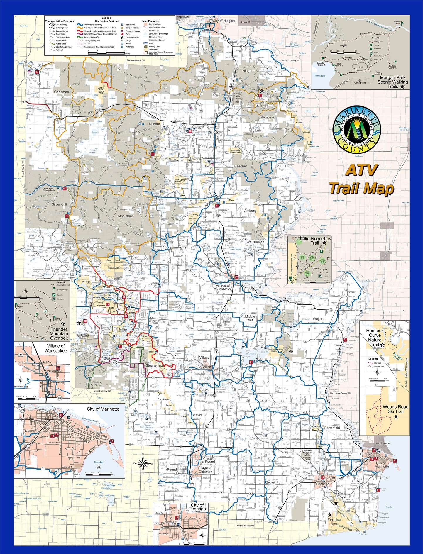 Marinette County Maps - North Country Real Estate