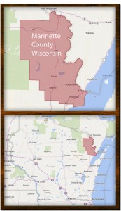 marinette-cty-wisconsin-map