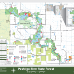 Peshtigo River Map State Forest Map, Wisconsin
