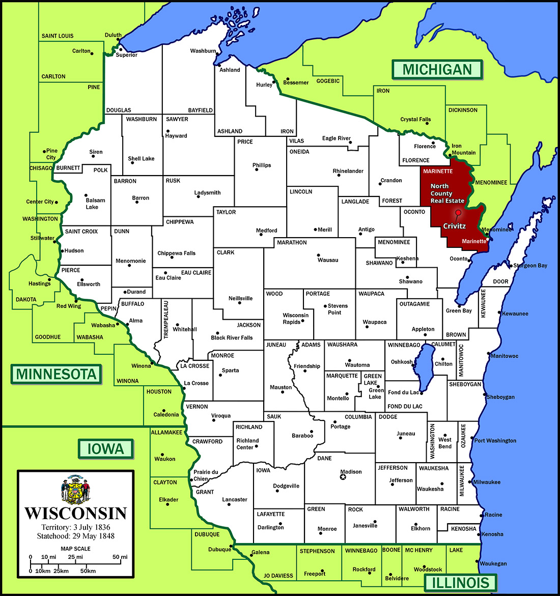Marinette County, WI Resources & Info - North Country Real Estate